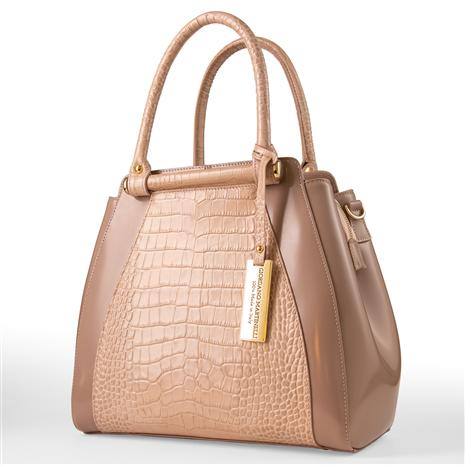 Italian Leather Handbag (cream)