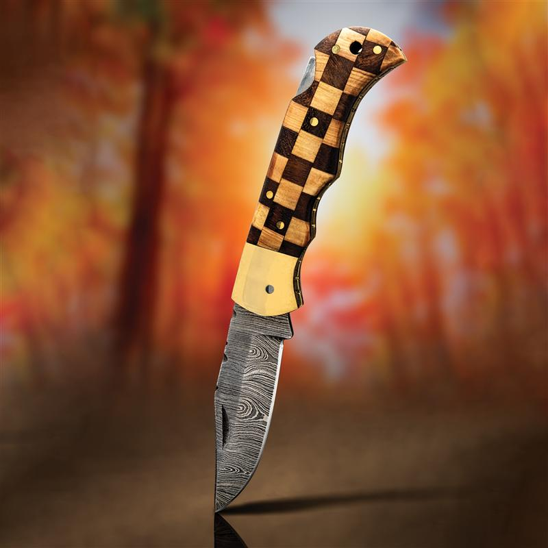 Checkmate Damascus Steel Knife