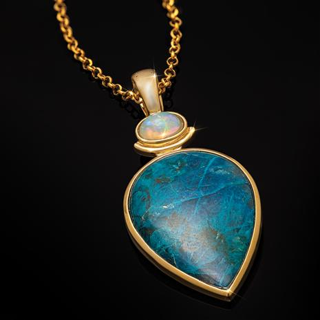 Chrysocolla & Opal Perfection Pendant