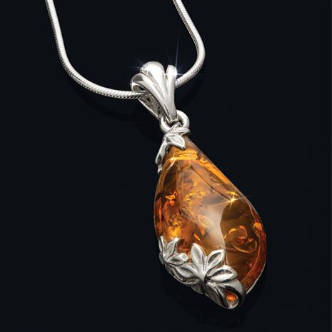 Drops of Amber Necklace