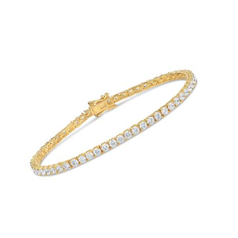 Yellow Gold-Finished Sterling Silver Eternity Bracelet
