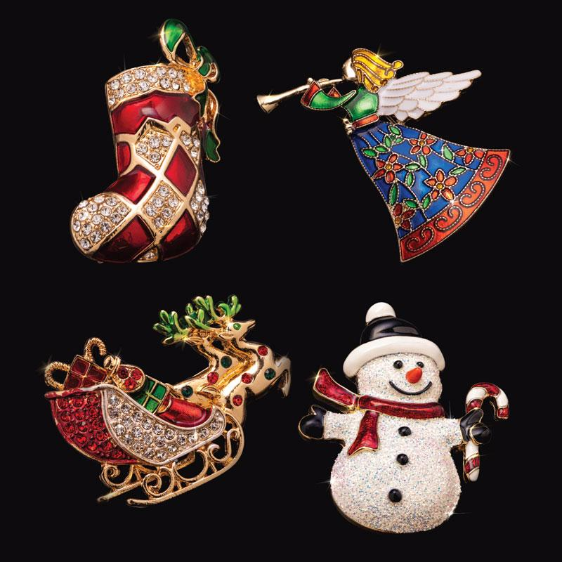 Signs of the Season Brooch Collection (set of 4)