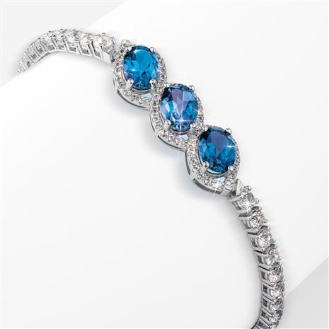 London Blue Topaz 3-Stone Bracelet