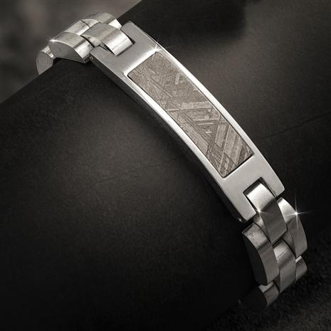 Men's Meteorite in Steel Bracelet