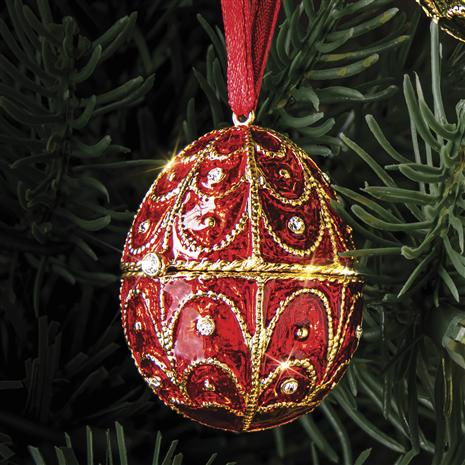 Jewel Tone Ruby Red Egg  Ornament