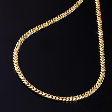 14K Italian Gold Cubano Necklace