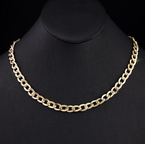 14k Italian Gold Curb Link Necklace