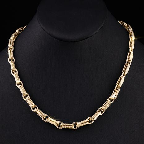 14K Italian Gold Double Rolo Link Necklace