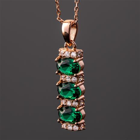 Stress-Free Glamour Necklace (Emerald Green)