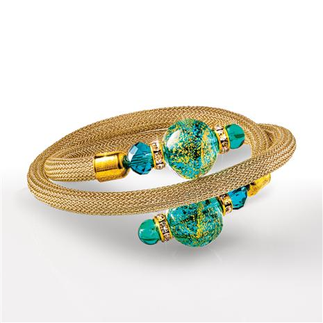 Wrap Around Murano Bracelet (Teal)