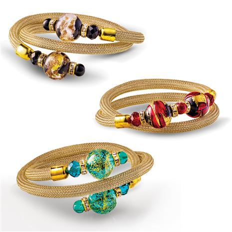 Wrap Around Murano Bracelets (Set of 3)