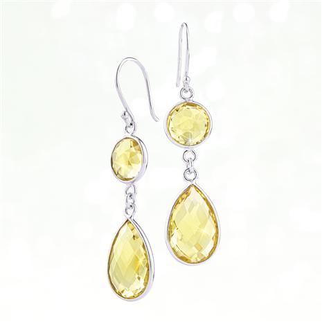 Drop Everything Earrings (Citrine)