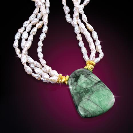 "Emerald & Pearl Empress Necklace Making ""herstory"""
