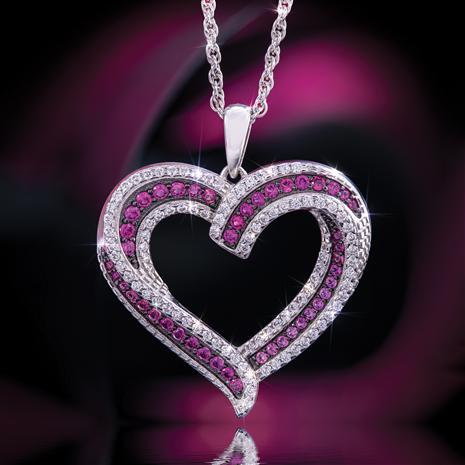 Scienza Ruby Sweetheart Pendant