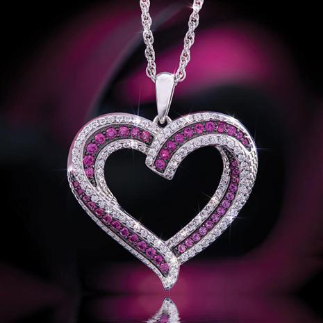 Scienza, Ruby Sweetheart Pendant & Chain