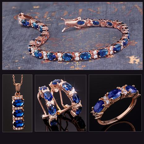 Stress-Free Glamour Collection (Sapphire Blue)