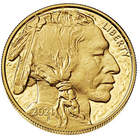 MS70 Graded 2021 One Ounce 24K Gold Buffalo Coin