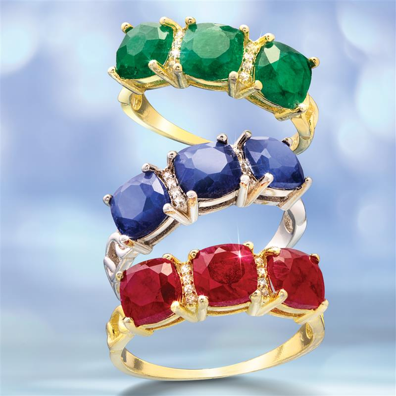 Excelsior Gemstone Rings (Emerald, Sapphire & Ruby)