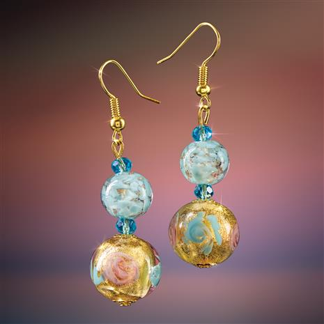 Cielo Blu Murano Earrings