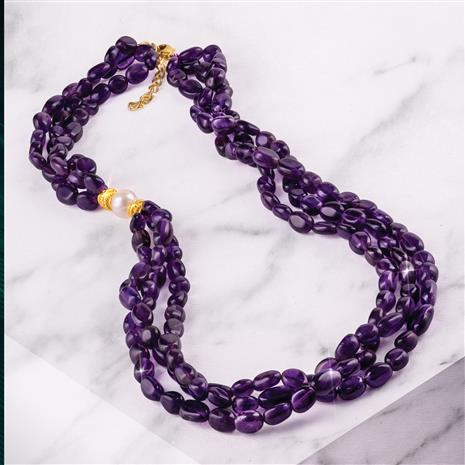 3-Strand Amethyst Necklace