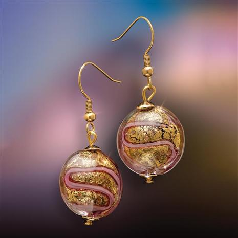 Rosa Splendoro Murano Earrings