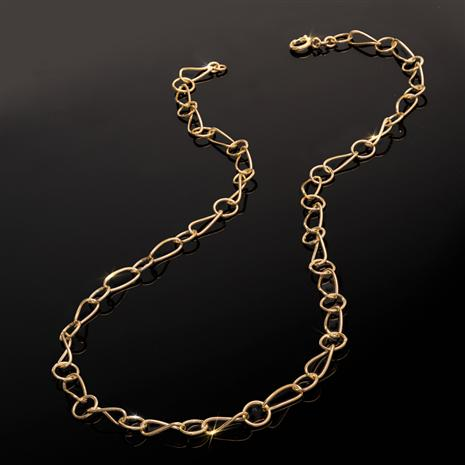 """20"""" Gold-finished Sterling Silver Chain"""