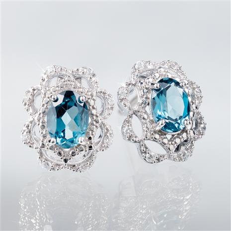 London Blue Topaz Embrace Earrings