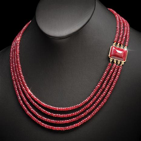 Ruby Passion Stone Necklace