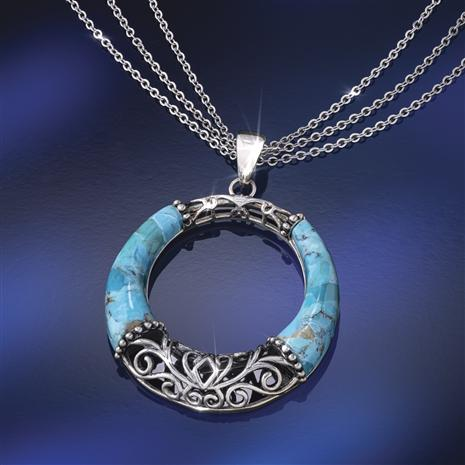 Timeless Turquoise Pendant & Chain