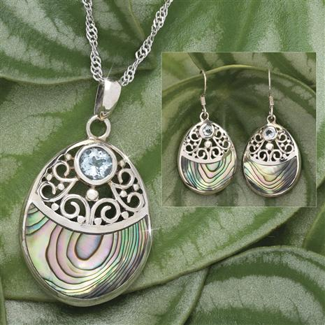 Abalone Blue Topaz Collection