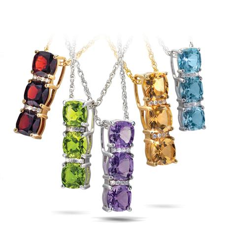Three Stone Pendant Collection