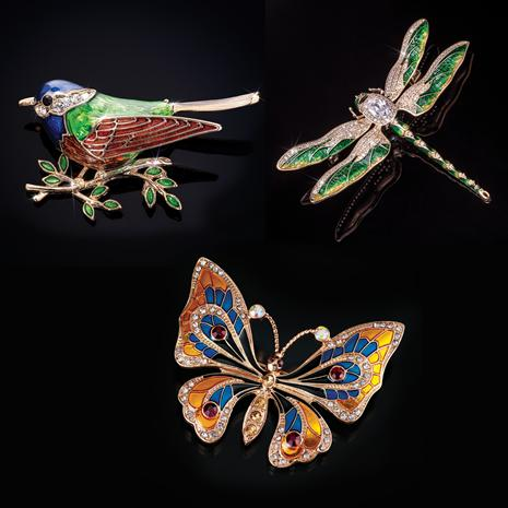 Wild Wings Brooches (set of 3)