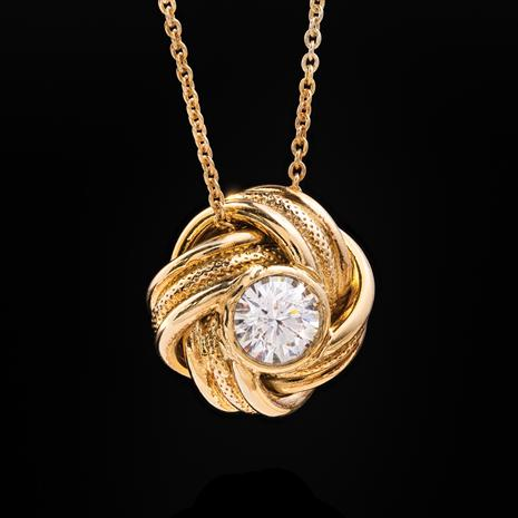 Italian Made Moissanite Knot Necklace