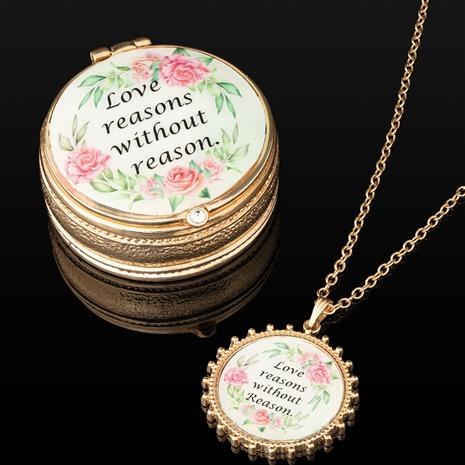 """""""Love Reasons' Necklace & Box"""