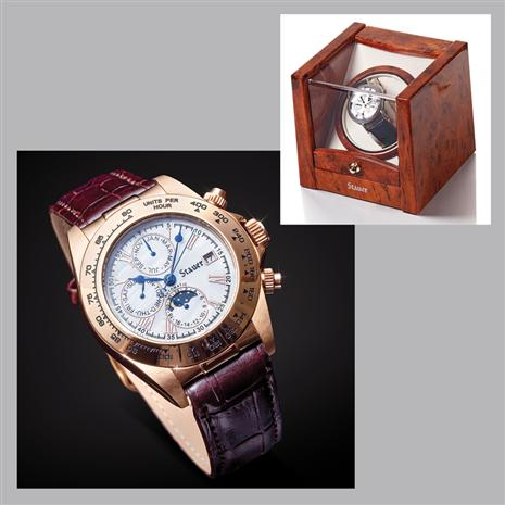 Speedway Automatic Watch  and Stauer Select Watch Winder