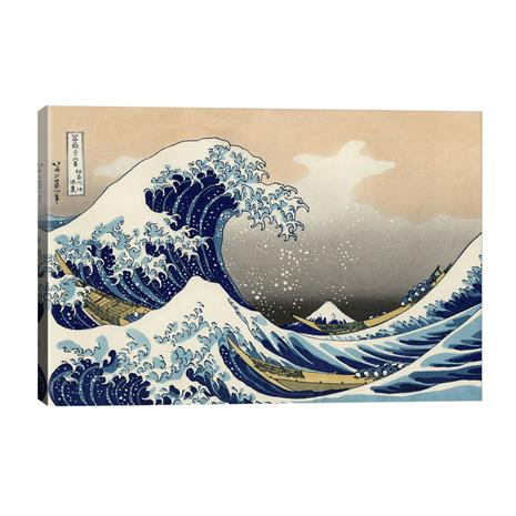 """Hokusai's """"The Great Wave"""" Gallery Wrapped Canvas"""