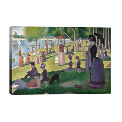 """Seurat's """"Sunday Afternoon on the Island of La Grande Jatte"""" Gallery Wrapped Canvas"""