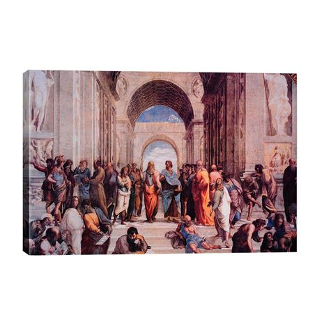 """Raphael's """"The School of Athens"""" Gallery Wrapped Canvas"""