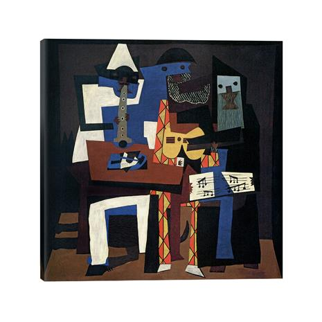 """Picasso's """"Three Musicians"""" Gallery Wrapped Canvas"""