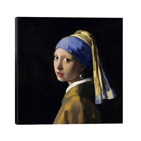 """Vermeer's """"Girl with a Pearl Earring"""" Gallery Wrapped Canvas"""