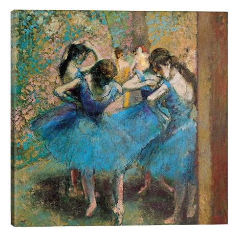 """Degas's """"Dancers in Blue"""" Gallery Wrapped Canvas"""