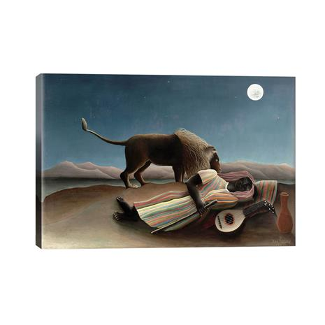 """Rousseau's """"The Sleeping Gypsy"""" Gallery Wrapped Canvas"""