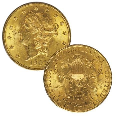 1907 Liberty Gold Double Eagle (MS63)