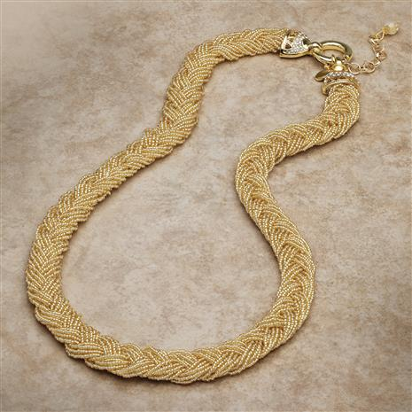 Golden Braided Murano Necklace