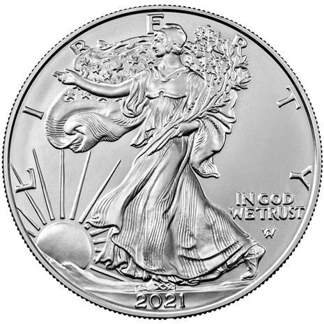 2021 Type II Silver Eagle Graded Coin MS70