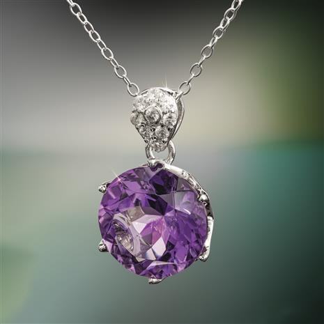 Another Round Amethyst Necklace