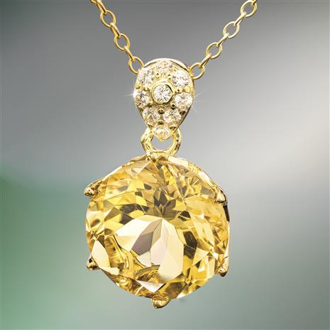 Another Round Citrine Necklace