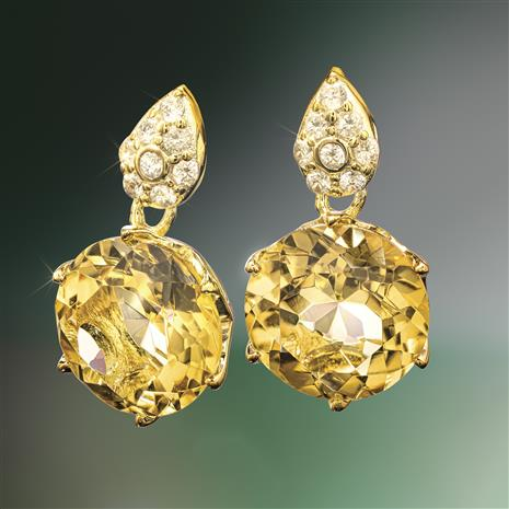 Another Round Citrine Earrings