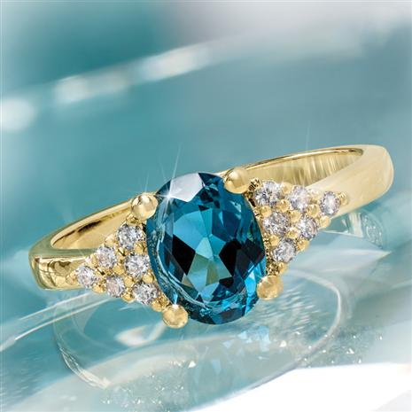 London Blue Topaz Decadence Ring