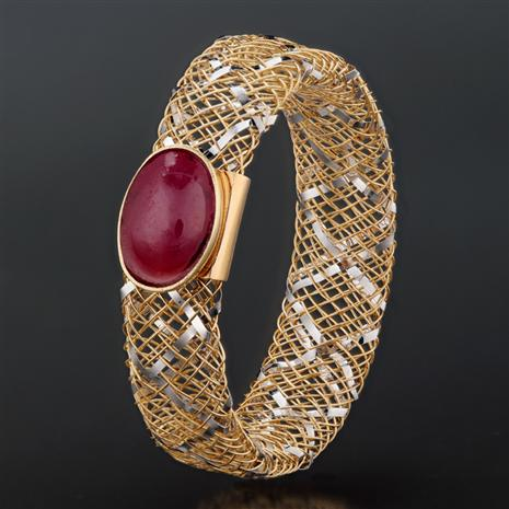 Oro e Gemme Ruby 14K Gold Ring